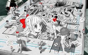 original characters, Midori Foo, ribbon, manga