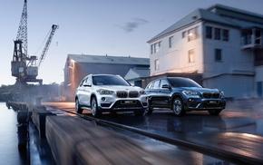 motion blur, water, BMW, SUV, vehicle, cranes machine