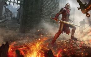 warrior, fantasy art