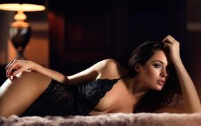 lamp, lingerie, leotard, model, girl