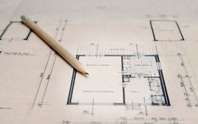 drawing, map, pencils, architectural drawing