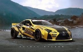 artwork, car, Lexus, race cars, Lexus IS, F