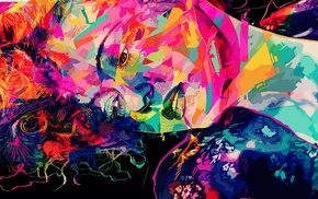 artwork, abstract, colorful, Alessandro Pautasso