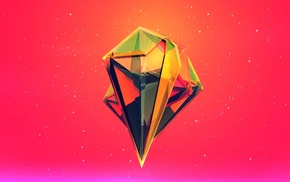 diamonds, pink, Facets, red, Justin Maller