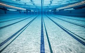 underwater, swimming pool, water