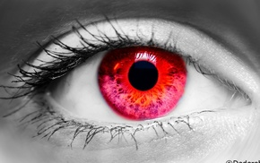 selective coloring, eyes, red