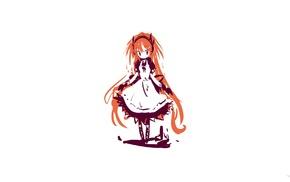 original characters, anime, anime girls, maid, redhead
