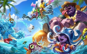 Dr. Mundo, pool party, Rek Sai, Lulu League of Legends, Zac League of Legends, Draven