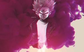 pink, anime, manga, Dragon Ball, smoke, 3D