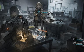 anime girls, weapon, gun, Tom Clancys The Division, anime