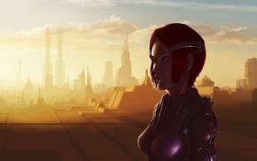 futuristic, science fiction, artwork