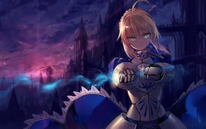Saber, Fate Series, ahoge