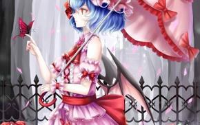 Remilia Scarlet, Touhou, anime, anime girls, dress, wings