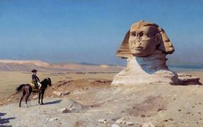 sand, statue, horse, army, artwork, desert