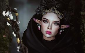 artwork, fantasy art, elves
