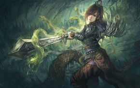 fantasy art, artwork, sword