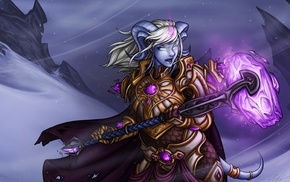 fantasy art, draenei, Yrel, World of Warcraft, artwork
