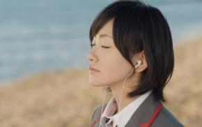 Nogizaka46, closed eyes, brunette, girl, black hair, Asian