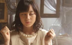 white dress, girl, brunette, Asian, Nogizaka46, closed eyes