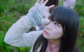 brunette, Nogizaka46, brown eyes, girl, looking away, black hair