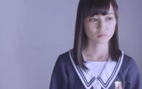 Asian, Nogizaka46, brunette, long hair, brown eyes, simple background