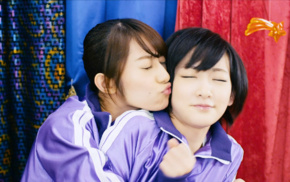 Nogizaka46, kissing, Asian, closed eyes, brunette, girl