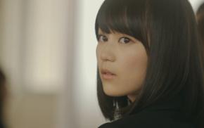 girl, Nogizaka46, looking at viewer, black hair, brown eyes, short hair