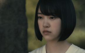 face, short hair, looking away, Nogizaka46, black hair, brown eyes