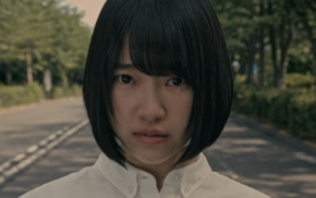 crying, brunette, girl, looking at viewer, Nogizaka46, tears