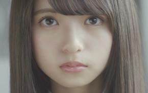 face, girl, Asian, brown eyes, Nogizaka46, brunette