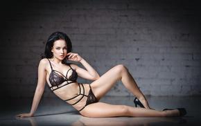 Angelina Petrova, model, girl, see, through clothing, hips