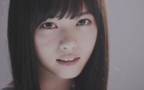 straight hair, looking at viewer, brown eyes, Nogizaka46, Asian, brunette