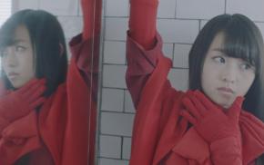 looking away, reflection, scarf, Nogizaka46, mirror, brown eyes