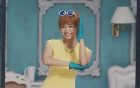 Nogizaka46, girl with glasses, Asian, redhead, girl, short hair