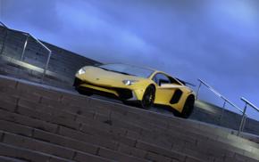 stairs, vehicle, Super Car, car, Lamborghini Aventador LP750, 4 SV