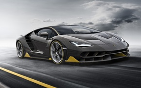Super Car, car, Lamborghini Centenario LP770, 4, vehicle, motion blur