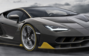 Lamborghini Centenario LP770, 4, dual monitors, multiple display, Super Car, motion blur