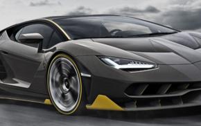 Lamborghini Centenario LP770, 4, dual monitors, multiple display, Super Car, motion blur