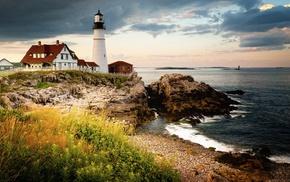 landscape, lighthouse, nature