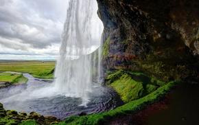landscape, waterfall, nature