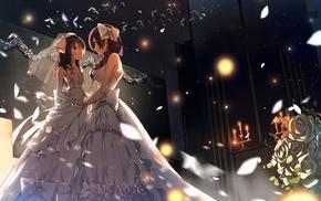 Toujou Nozomi, anime girls, Love Live, Yazawa Nico, wedding dress