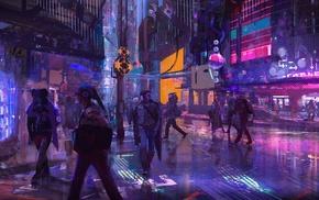 digital art, fantasy art, abstract, colorful, science fiction, va