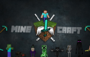 sword, Herobrine, Steve, craft, Minecraft, adventurers