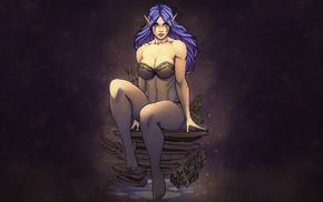artwork, Night Elves, fantasy art