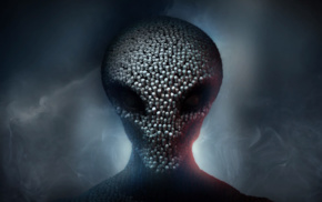 spooky, aliens, video games, XCOM 2, XCOM, head
