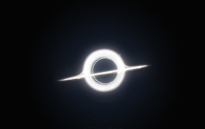 digital art, Interstellar movie, universe, black holes, space art