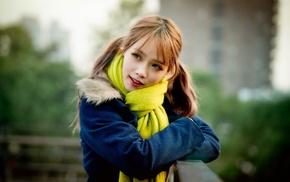 girl, model, Asian