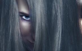 girl, hair, face, model