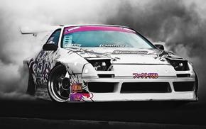 race cars, car, drift, racing, Mazda RX, 7