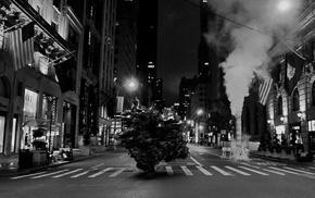 Los Angeles, night, monochrome